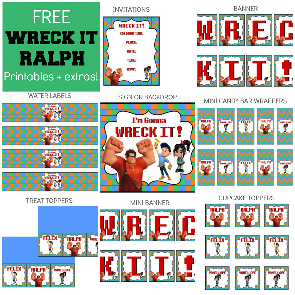 Wreck It Ralph Party Printable Items Party Printables Wreck It Ralph Party Printables Free