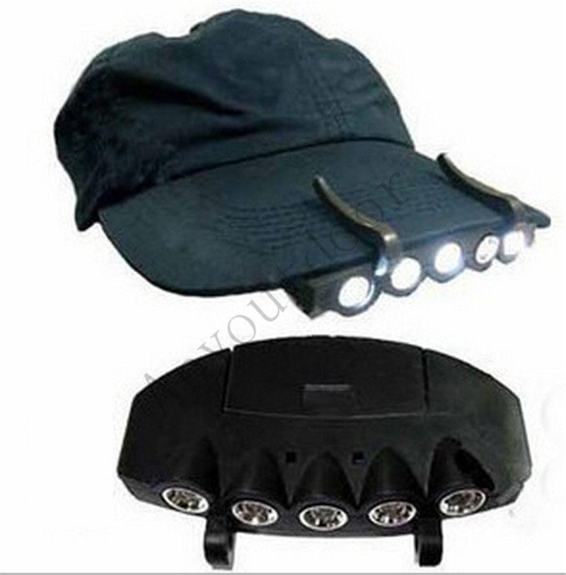 Brand New Ball Cap Visor Light W// Batteries Ultra Bright Hat Light Clip on