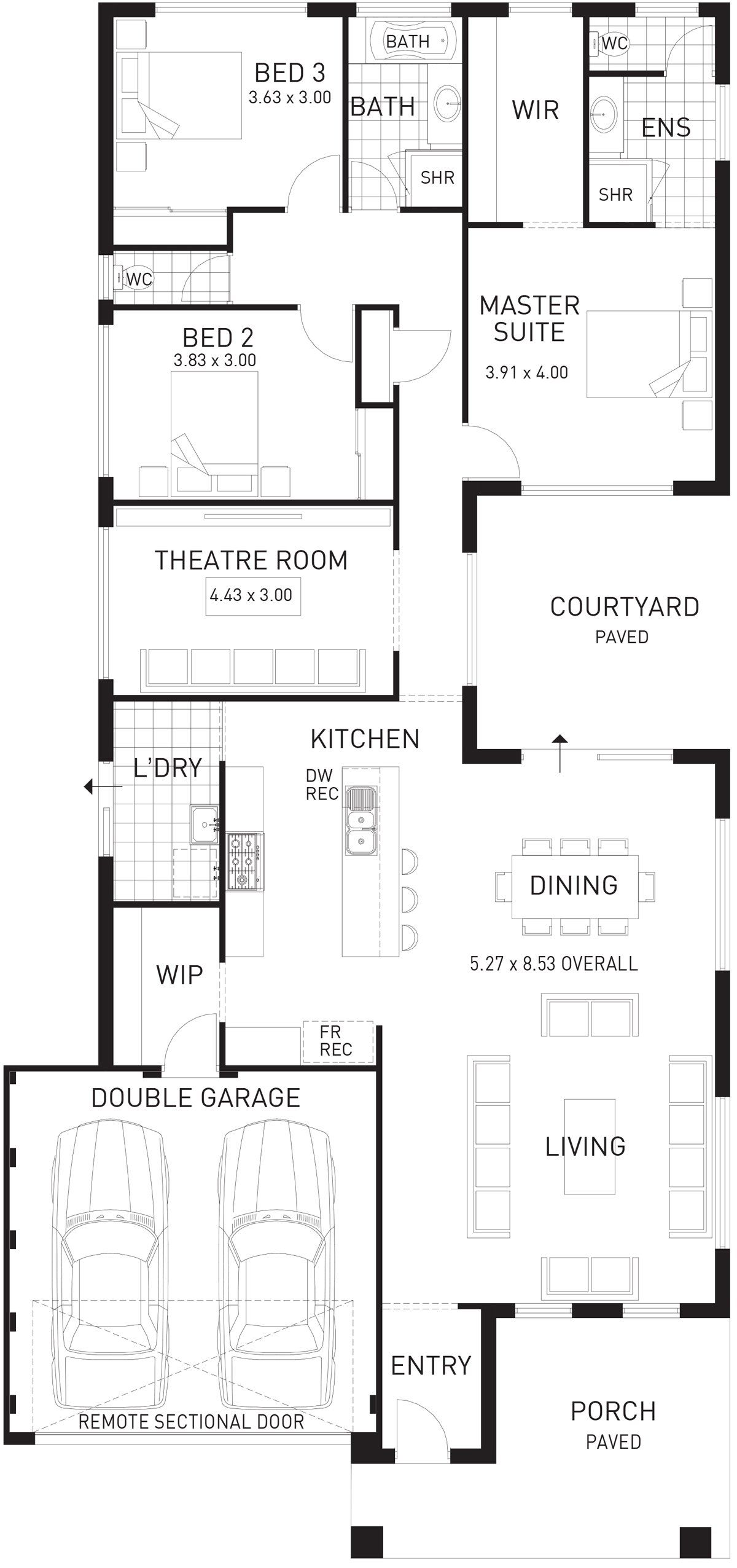 Cottesloe beach single storey home design foundation floor plan wa also rh pinterest