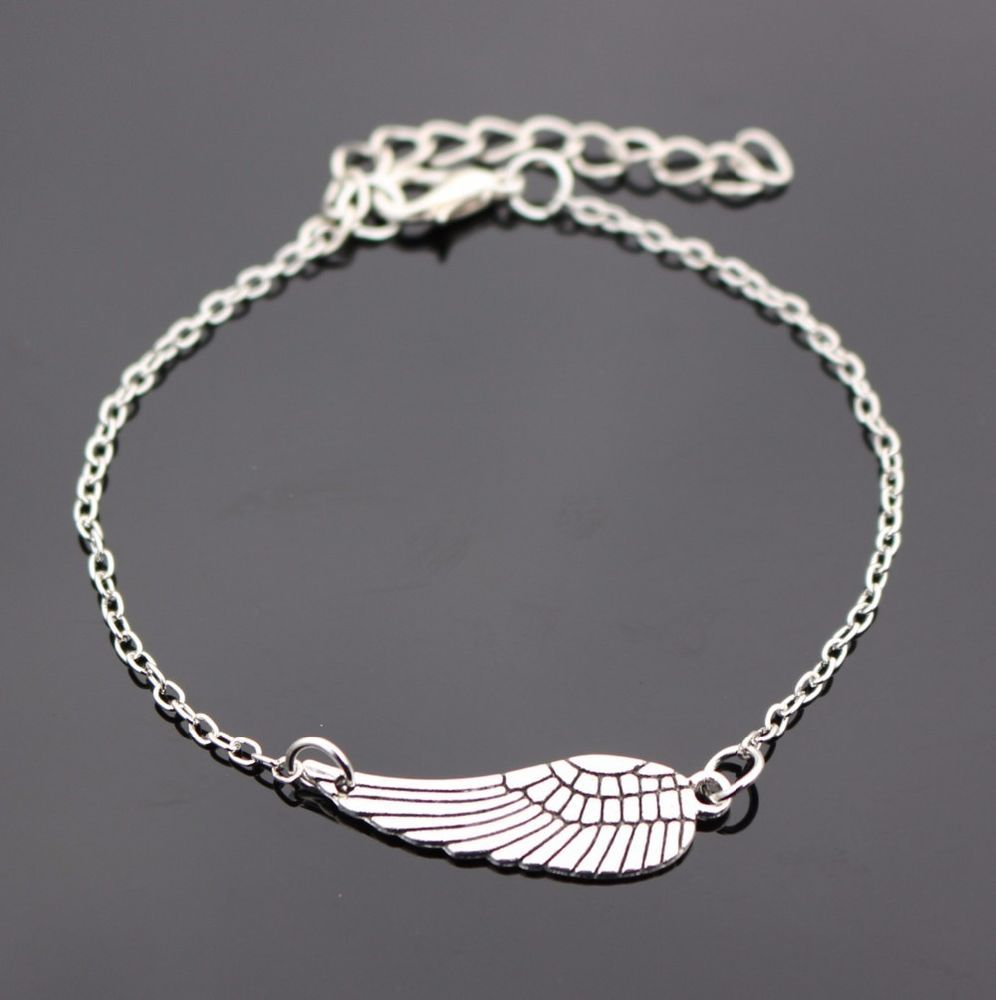 Fashion Angel Bracelet Charm Silver Men Women Valentines Gift