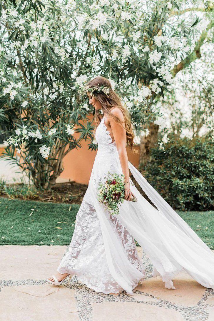 Simple Boho Spaghetti Straps Sweetheart Backless Chiffon Beach Wedding Dresses uk PW227