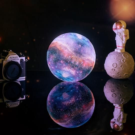 3d Print Star Moon Galaxy Lamp For Home Decor 3d Print Star Moon Galaxy Lamp For Home Decor We Have All Wished Upon In 2020 Shop Decoration Look At The Moon