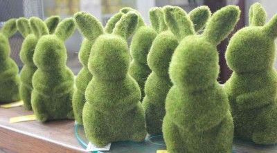Moss Bunny Sold Out Easter table decorations, Bunny