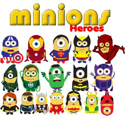 Minions Avengers 18 cliparts CDR images, vector graphics free mail ...