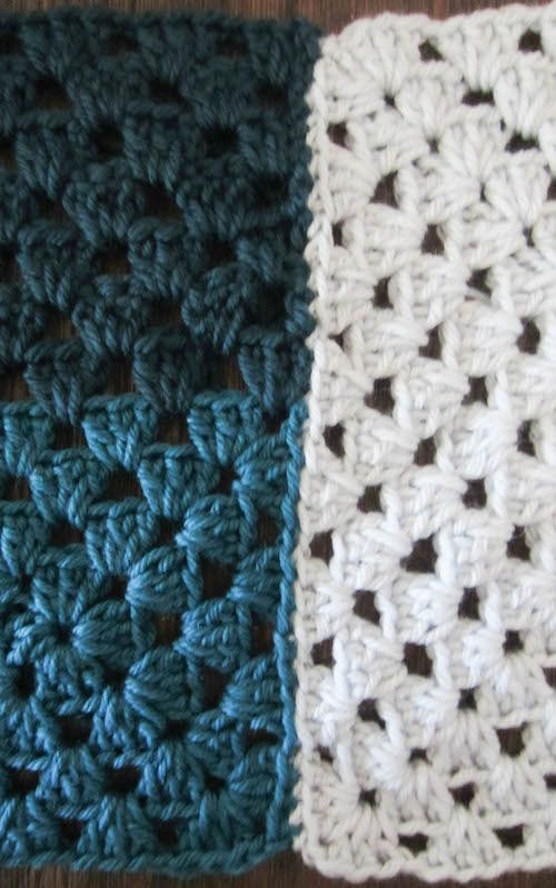 Crochet Pattern: Mod 9-Patch Blanket by | Manta y Camas