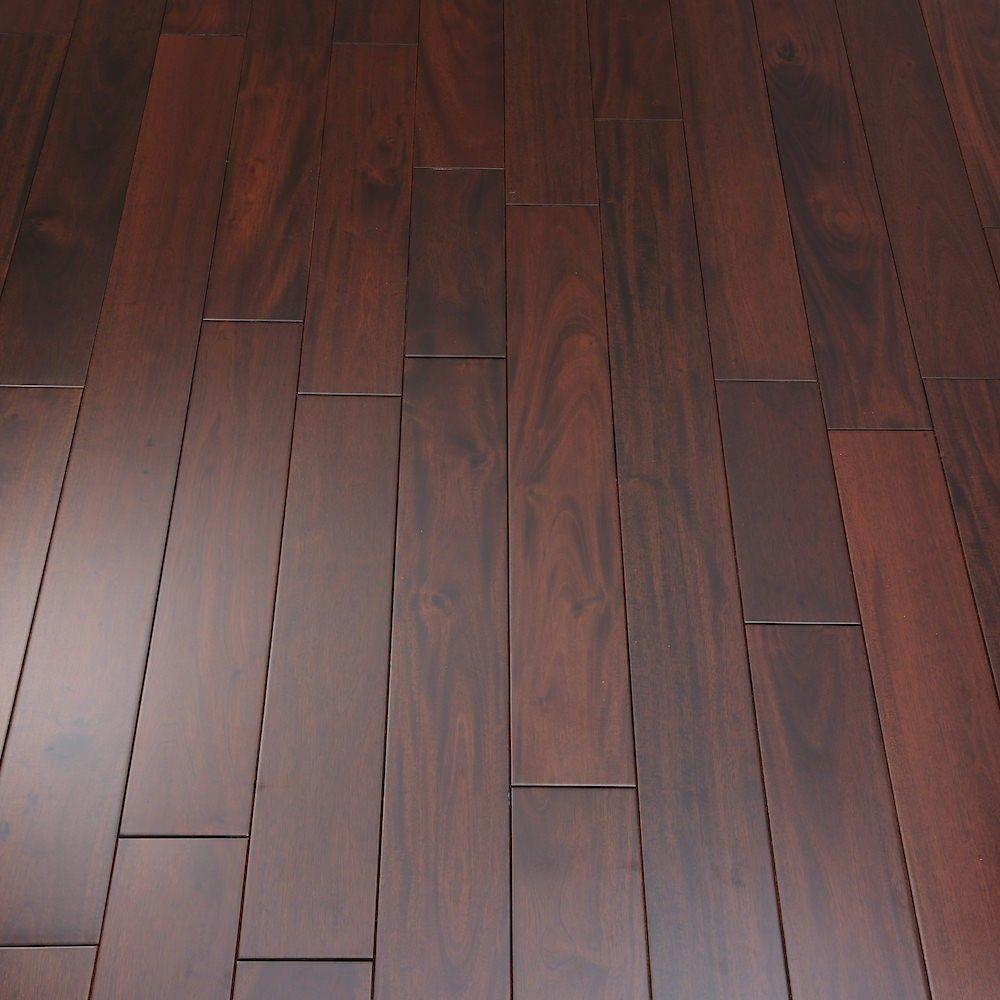 Royal Mahogany Narrow Solid Wood Flooring Lines Are Too