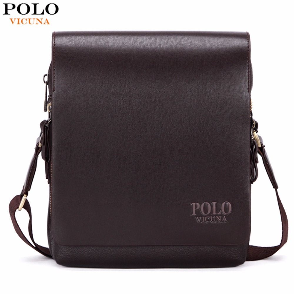 VICUNA POLO New Arrival Fashion Business Leather Men Messenger Bags  Promotional Small Crossbody Shoulder Bag Casual Man Bag  Affiliate e9d43c7ab733c