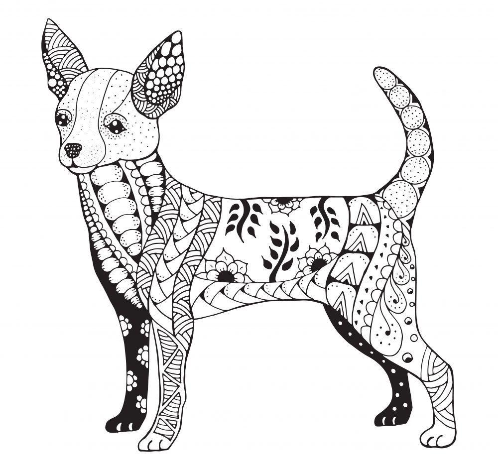 Mandalas De Perros Para Colorear Mandalas Animales Mandalas