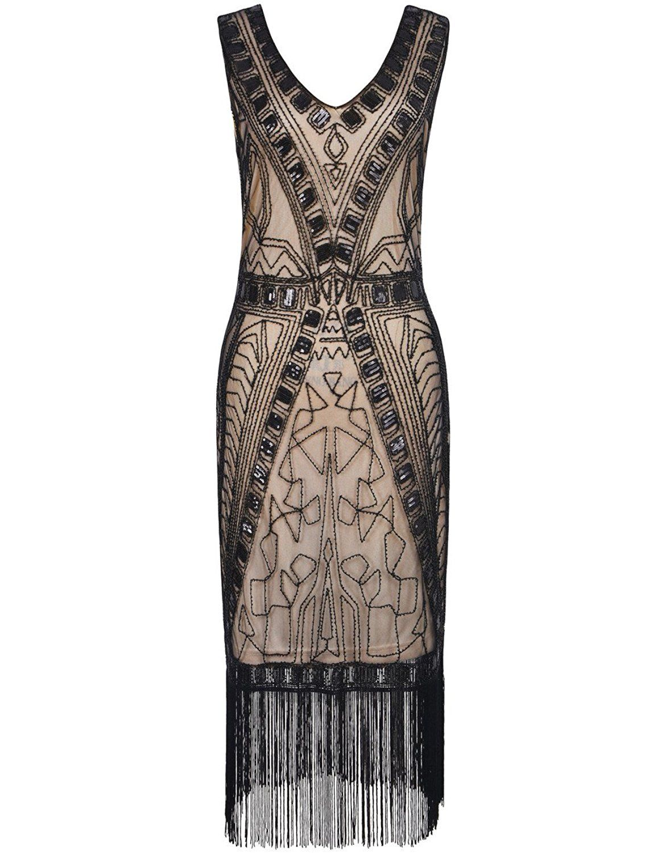 PrettyGuide Women 1920s Flapper Dress Art Deco Sequin Inspired ...