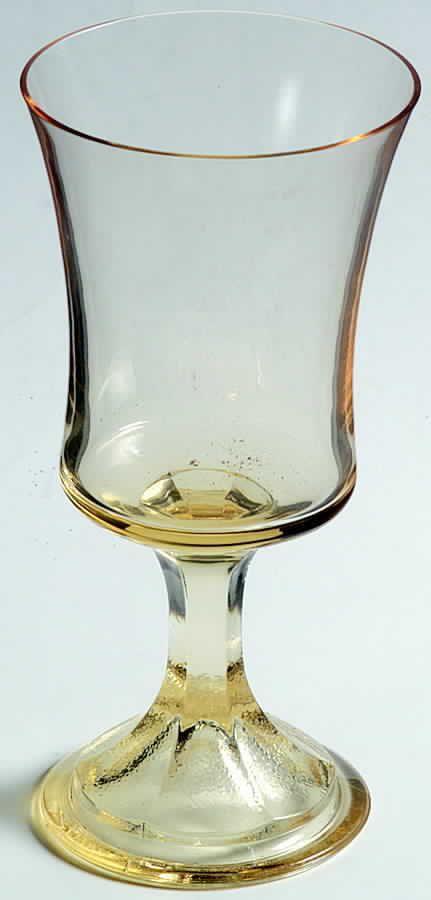 Fostoria MISTY YELLOW Claret Wine Glass 148522 #Fostoria