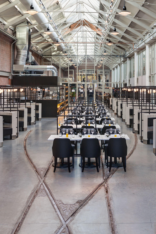 Meat west industrial restaurant amsterdam framework for Industrial design amsterdam