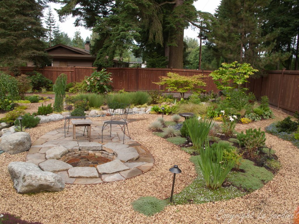 pea gravel patio design garden