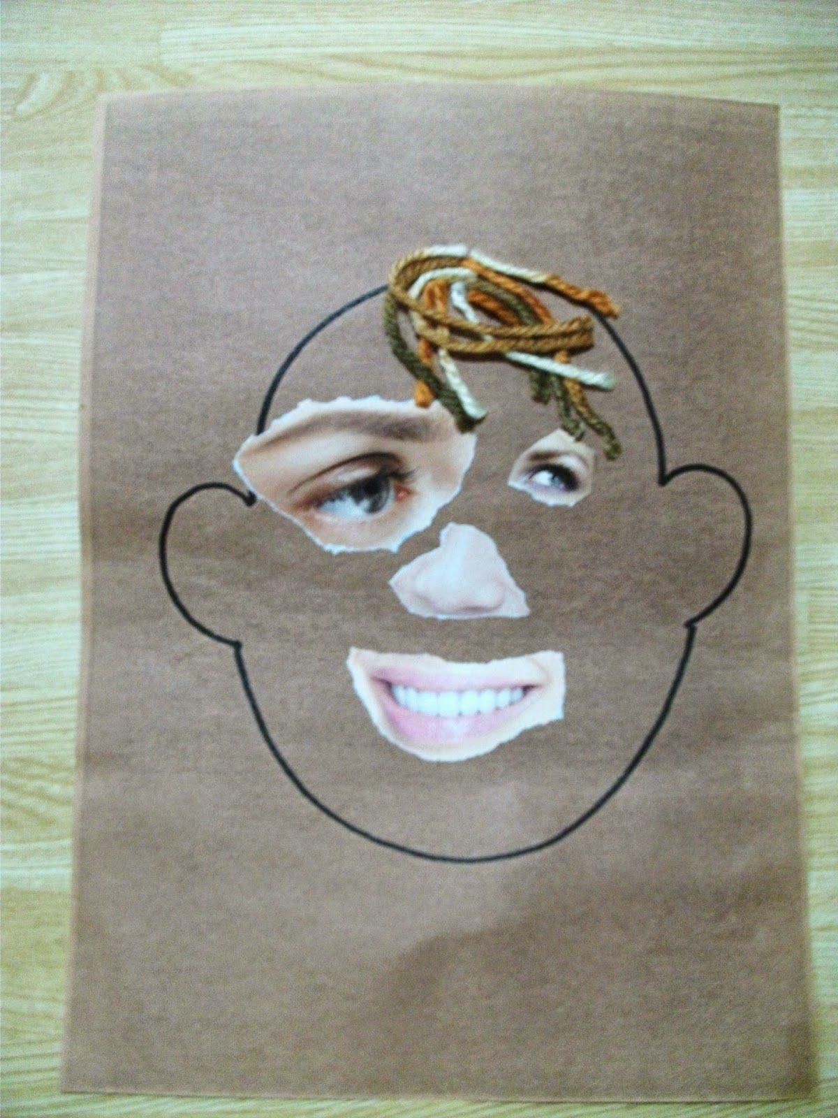 Preschool Crafts For Kids Funny Face Collage Craft Preschool