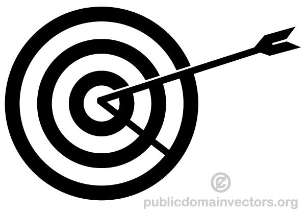 Vector Arrow Hitting In The Target Download Free Vector Art Bullseye Tattoo Target Image Bullseye Target