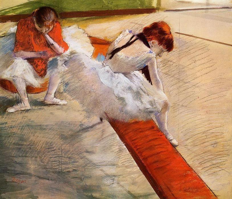 'danseurs repos', pastel de Edgar DEGAS (1834-1917)