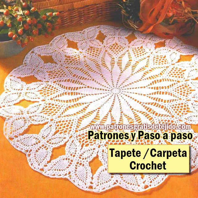 Carpeta - Tapete crochet paso a paso | carpetas tejidas | Pinterest ...
