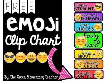 Free emoji clip chart  love this idea and it   also noneditable behavior beginning of the year rh pinterest