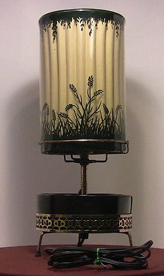 Rare 1950 S Round Planter Style Lamp Butterflies Econolite Motion Lamp Light Lamp Lamp Light Motion Lights