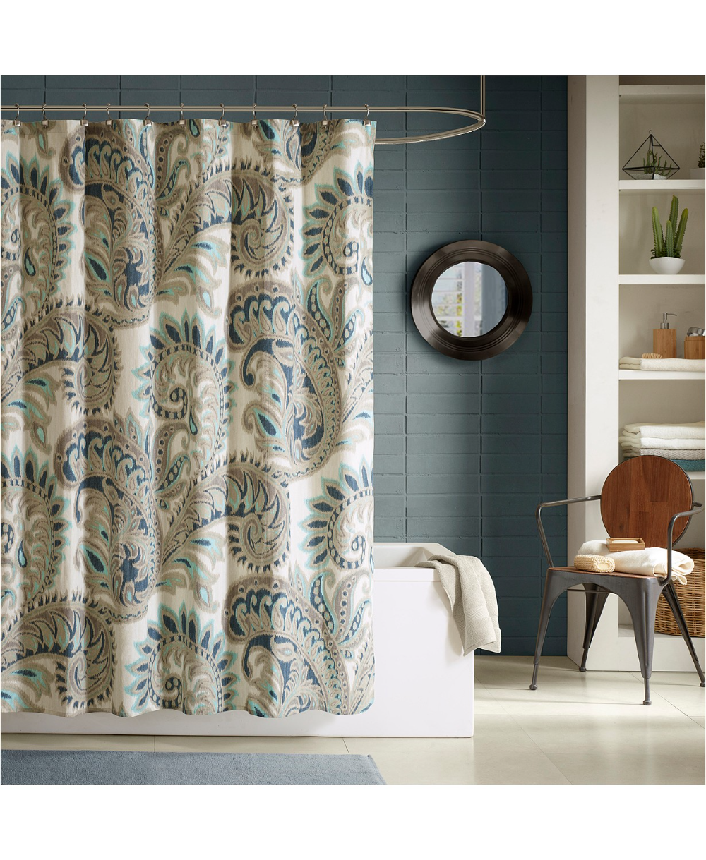 Ink Ivy Mira Cotton 72 In 2021 Blue Shower Curtains Shower Curtain Cotton Shower Curtain Ink and ivy shower curtain
