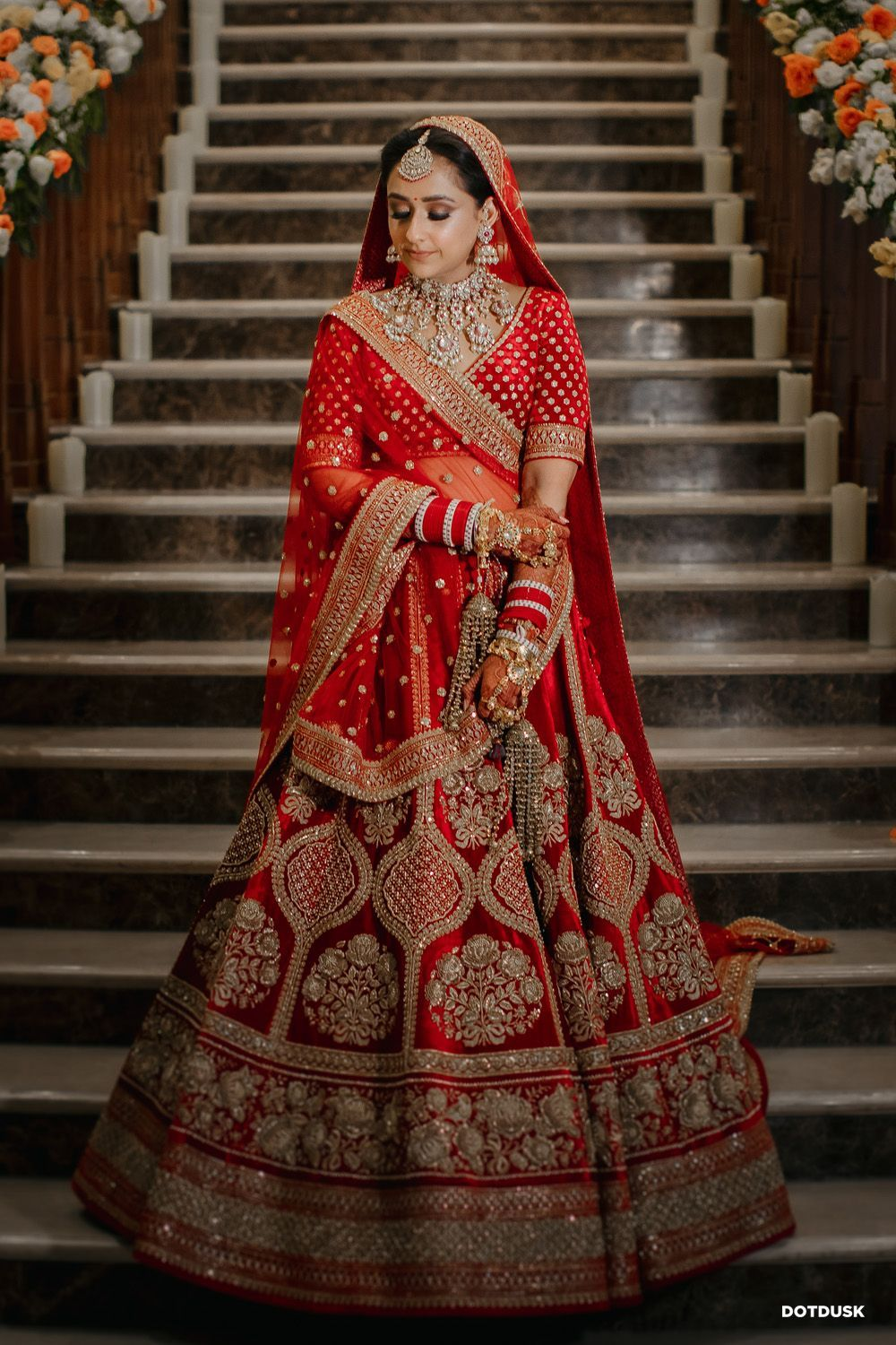 Glamorous Ludhiana Wedding With The Couple In Traditional Colours In 2020 Wedding Lehenga Designs Bridal Lehenga Red Red Bridal Dress