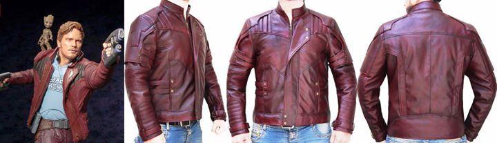 95d375793b0d9 Star Lord Guardians Of Galaxy Vol. 2 Chris Pratt Leather Jacket https