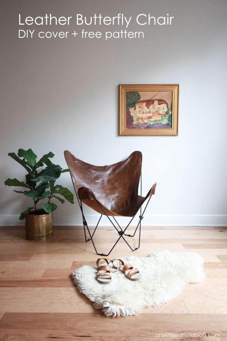Leather Butterfly Chair Cover DIY | Leather butterfly ...
