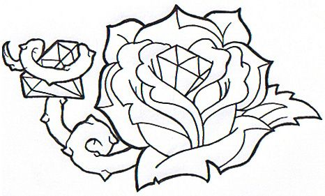 Diamond Rose by St-Ink.deviantart.com on @deviantART