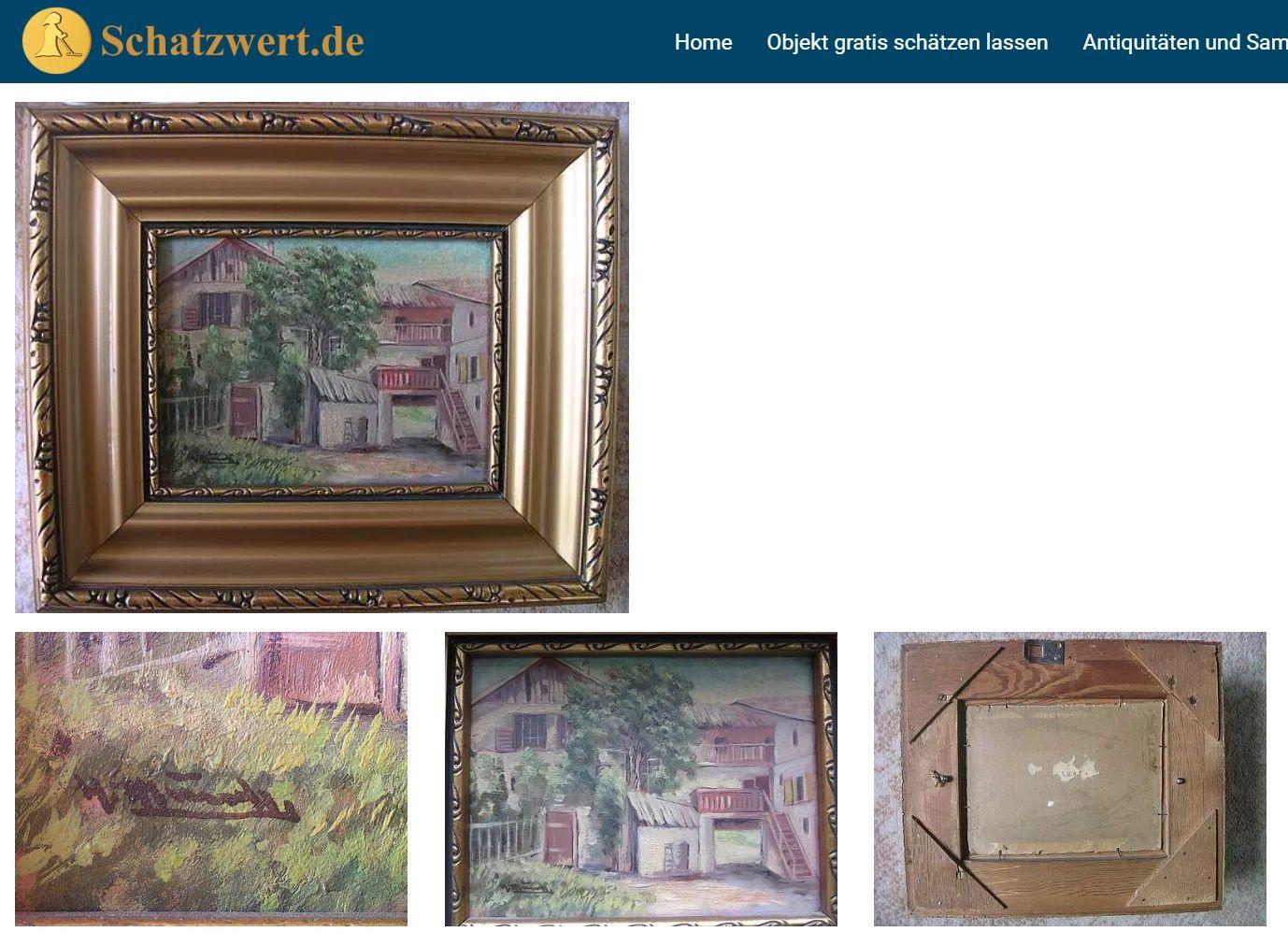 Gemälde Von W Busch Gemälde Kunstdruck Ölgemälde