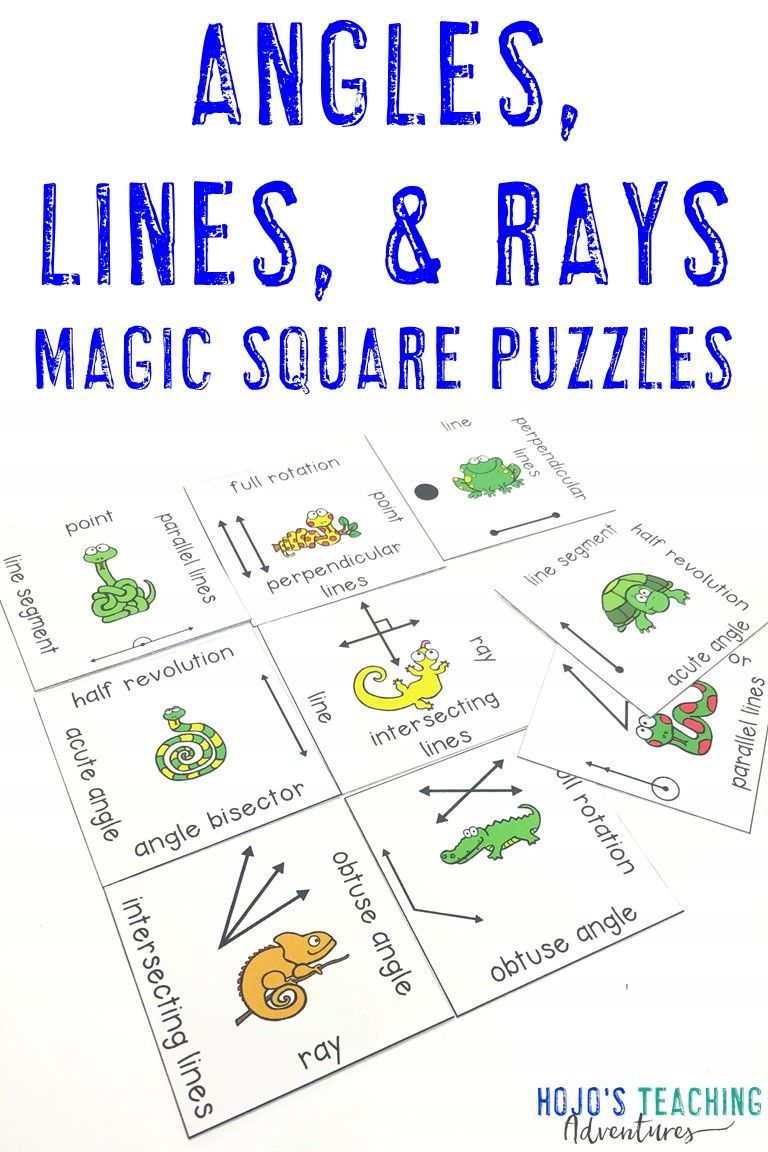Lines and Angles Activities FUN Geometry Worksheet
