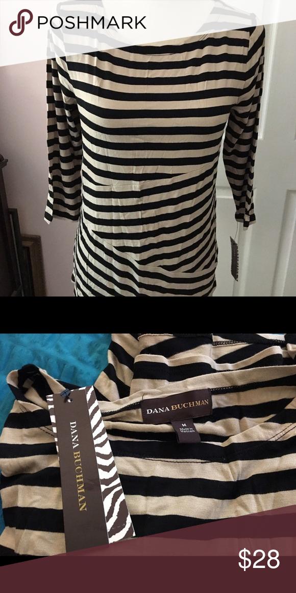 4f18f3a21d3 Dana Buchman striped tunic NWT | Tunics, Customer support and Delivery