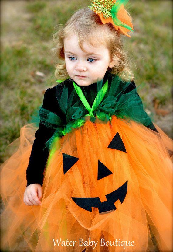 Pumpkin Princess Tutu Halter Dress Halloween by WaterBabyBoutique - princess halloween costume ideas