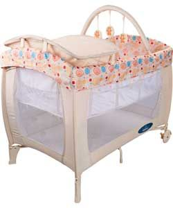Babystart Deluxe Travel Cot Natural Baby Baby Travel Cot