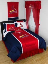 St Louis Cardinals Bedding In Official Team Colors Of Red And Blue