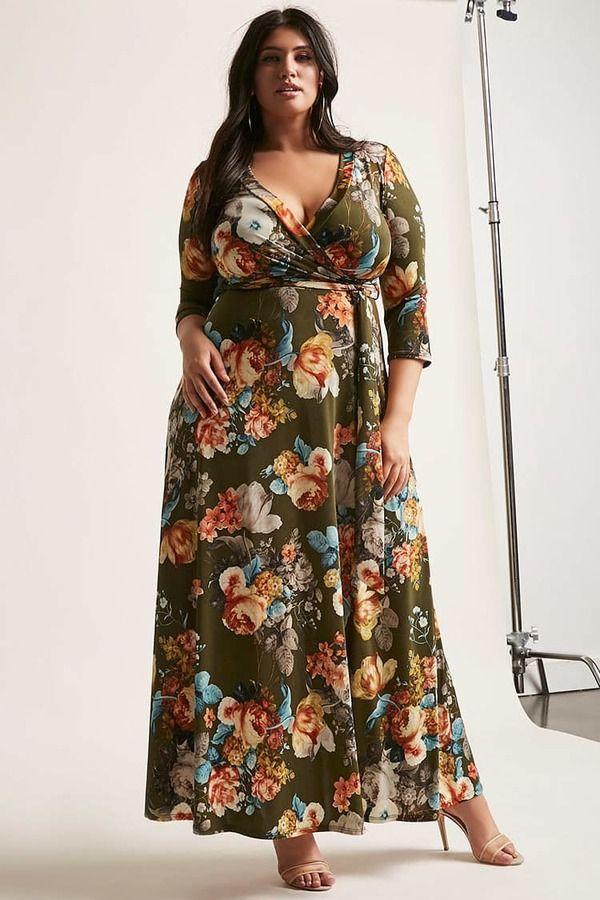 Forever 21 Plus Size Floral Maxi Dress Kleid Plus Grossen Mode Grosse Grossen Vollschlanke Schonheit