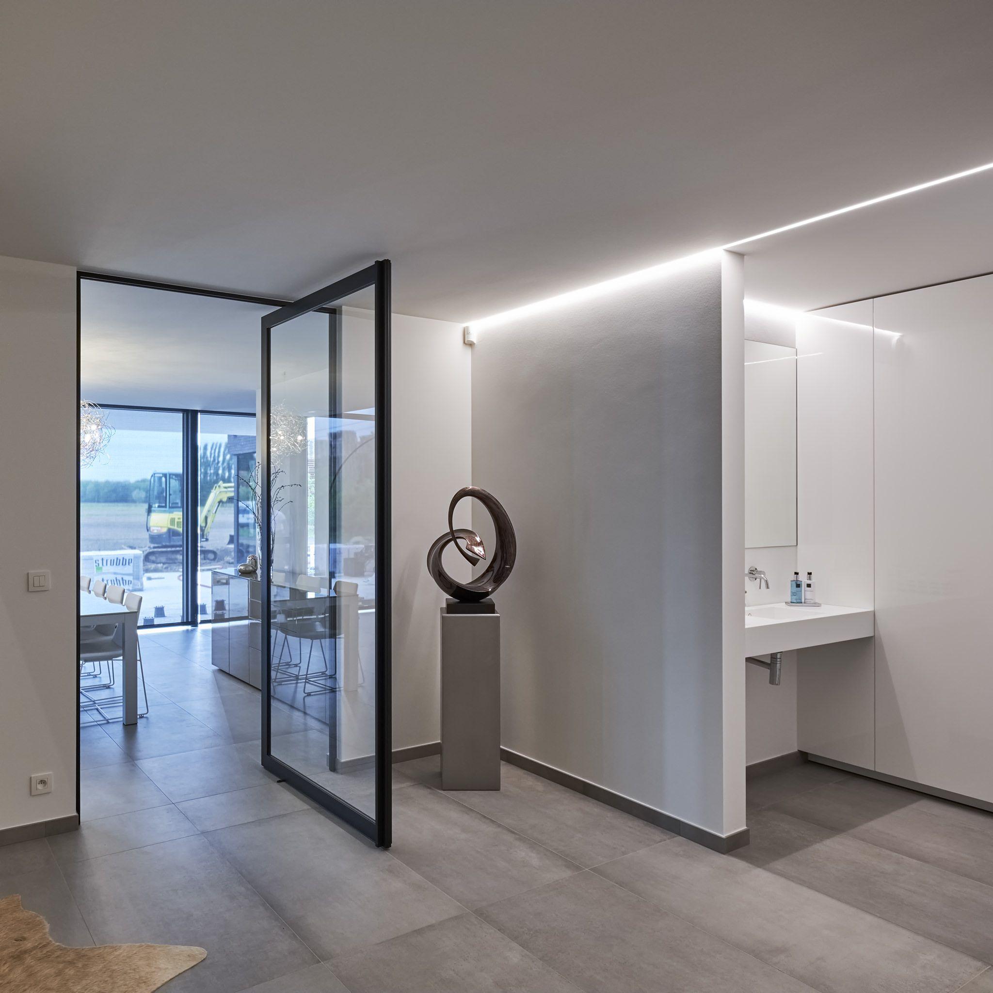 Porte Intérieure Style Atelier Sur Pivot Désaxé Portes Pivotantes - Porte intérieure style atelier