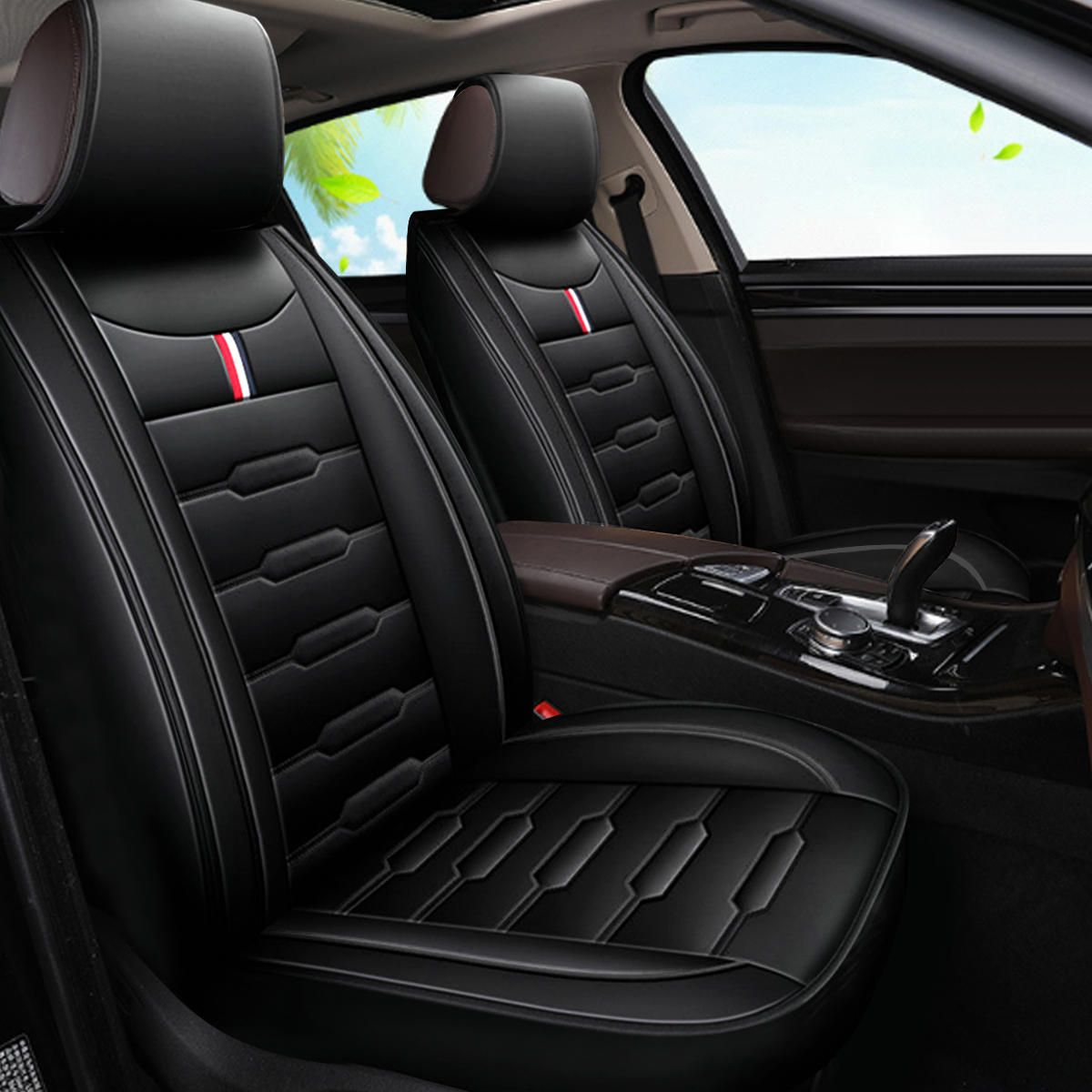Pu Leather Front Car Seat Cover Cushion Protector For 5 Seats Sedan Suv Van Auto Parts From Automobiles Motorcycles On Banggood Com In 2020 Leather Car Seats Leather Car Seat Covers Car
