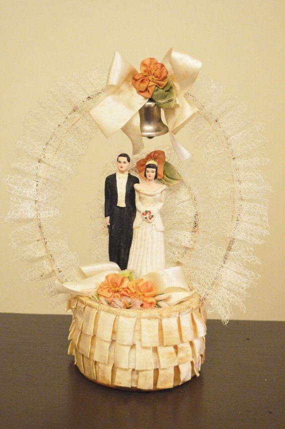 1930\'s vintage bride and groom wedding bridal cake topper | Deserts ...