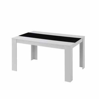 damia table manger de 4 6 personnes style cont restaurent pinterest noir mat mate et. Black Bedroom Furniture Sets. Home Design Ideas