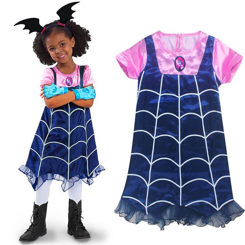 Kids Girls Vampirina Costume Cosplay Mask Headband Fancy Dress Party Props New