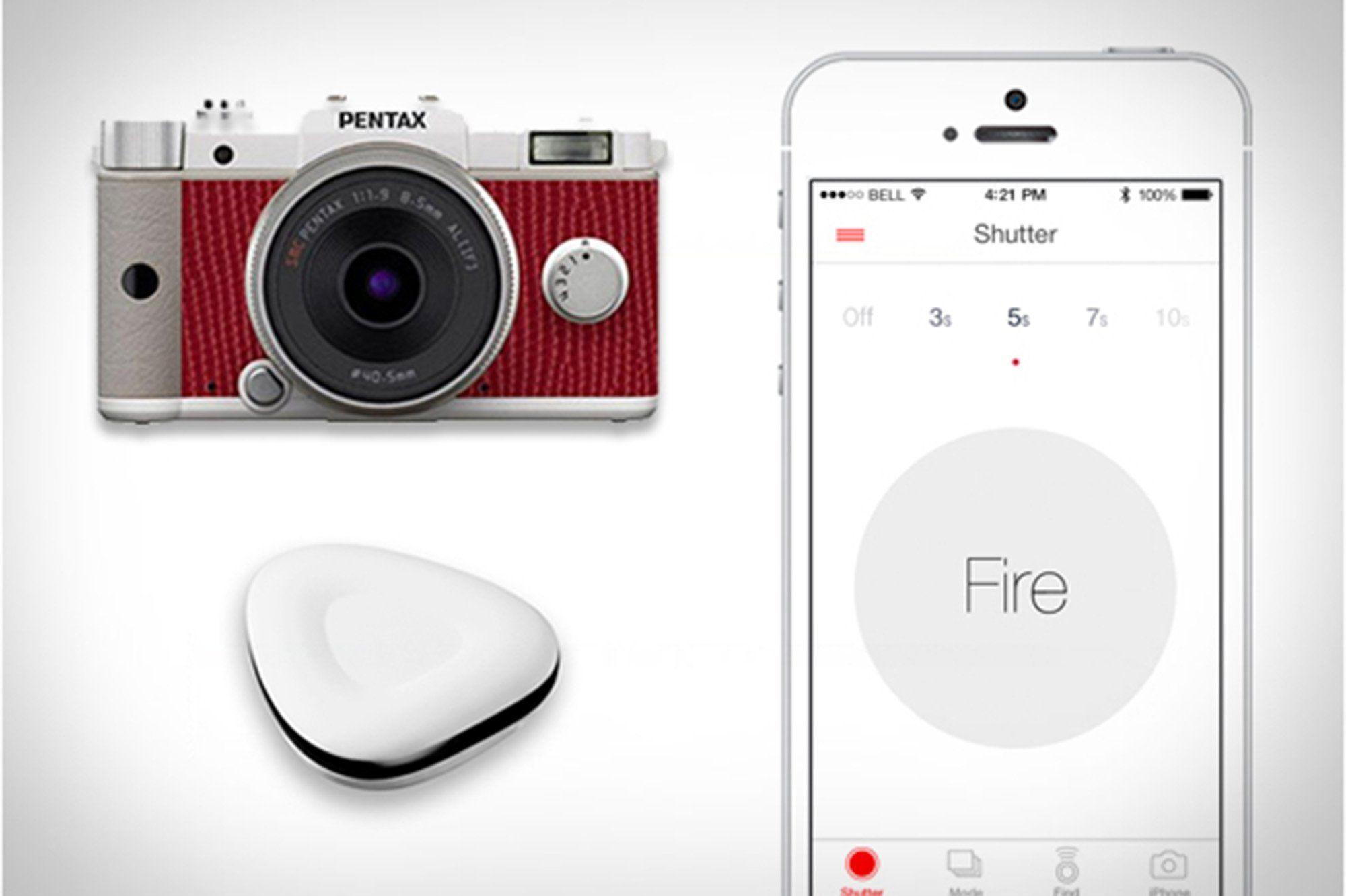 A wireless remote that lets you control your DSLR camera