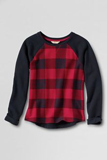 a69fb011a Girl s French Terry Sweatshirt - Lands  End.