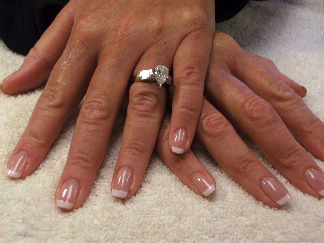 A french manicure over a set of silk wrap nails elegant nails a french manicure over a set of silk wrap nails prinsesfo Images