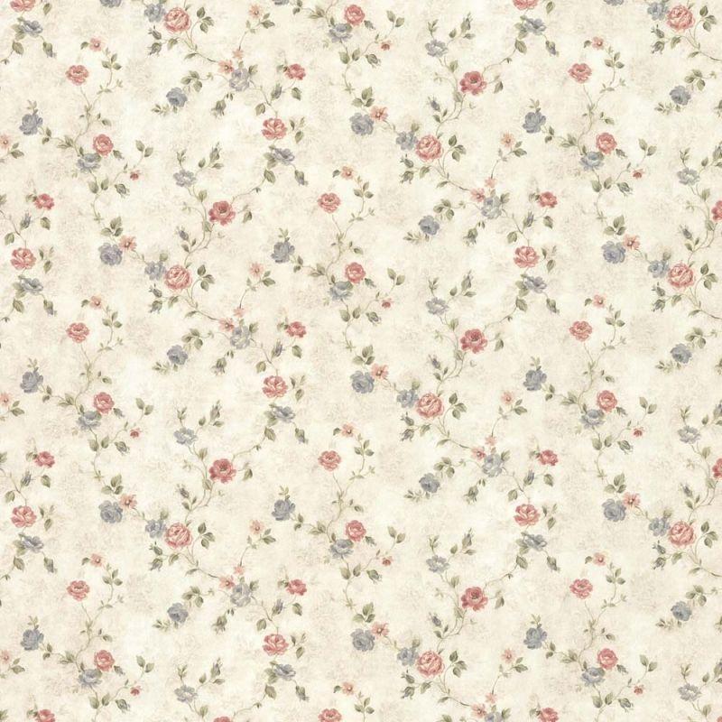 vintage rose englische landhaus satintapeten kleine rosen art nr 44418 tapeten pinterest. Black Bedroom Furniture Sets. Home Design Ideas