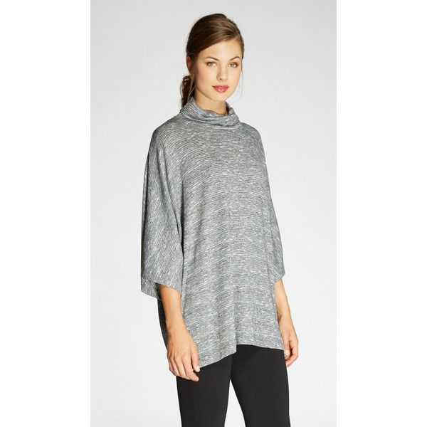 Bobeau Cowl Neck Shimmer Poncho Sweater ($35) ❤ liked on Polyvore ...