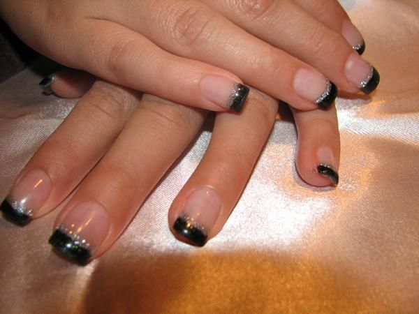 Black french manicure designs gallery of nail work by nails by black french manicure designs gallery of nail work by nails by pola glitter french manicure prinsesfo Image collections