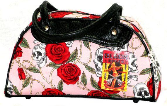 Rockabilly Skull and Roses Tasche Bow Vtg Gothic von SiamTrends, €25 ...
