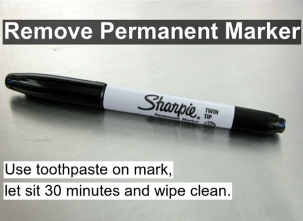 use toothpaste to get permanent marker out of clothing skoon maak