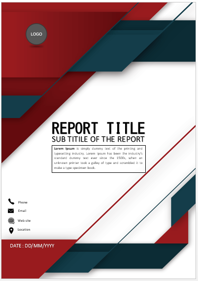 Cover Page Red Sophisticated Cover Page Cover Pages Cover Page Template Book Cover Page Design Cover Page Template Word