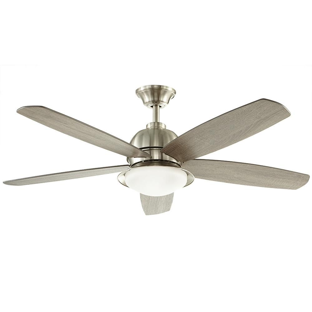 Home decorators collection ackerly 52 in led indoor outdoor brushed nickel ceiling fan with