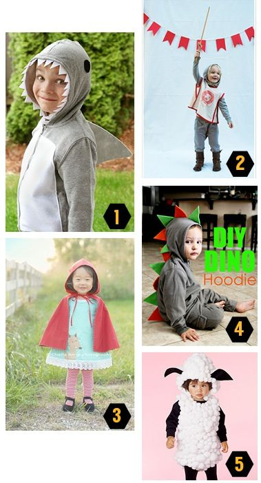Creating a hoodie-based costume guarantees your child will be nice - halloween costume ideas for groups of 5